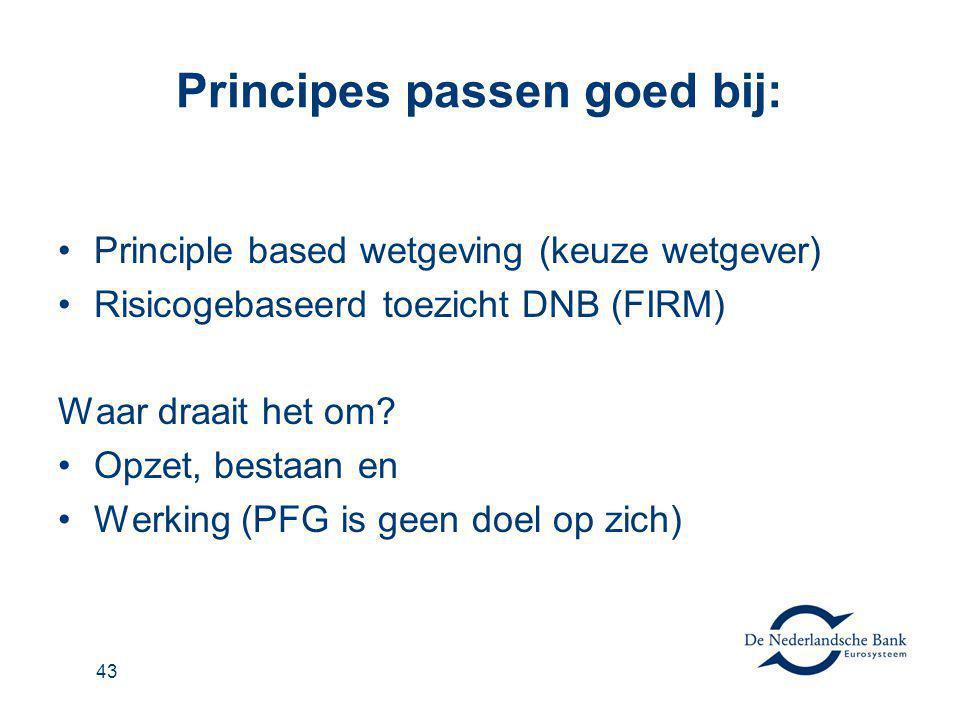Principes passen goed bij:
