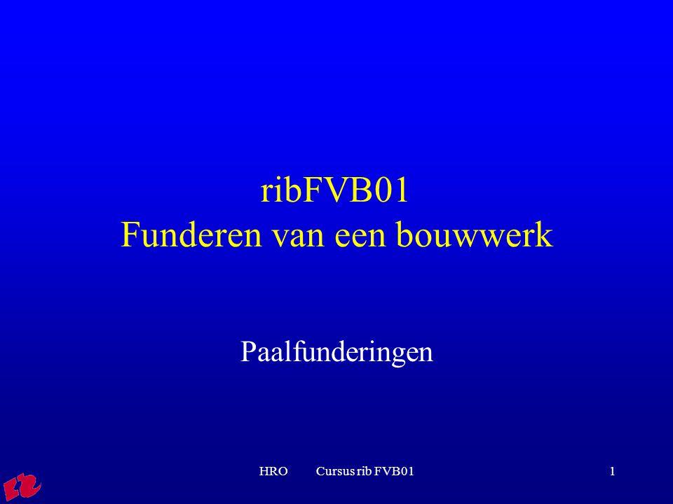ribFVB01 Funderen van een bouwwerk