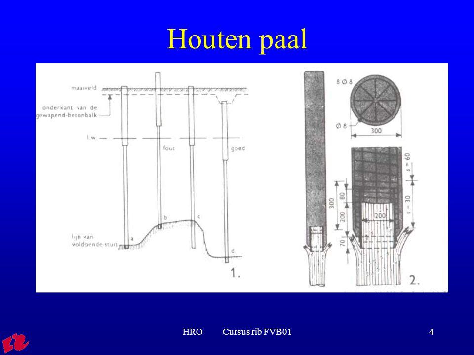 Houten paal HRO Cursus rib FVB01