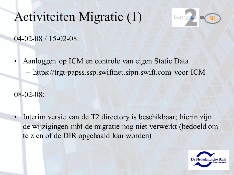 Activiteiten Migratie (1)