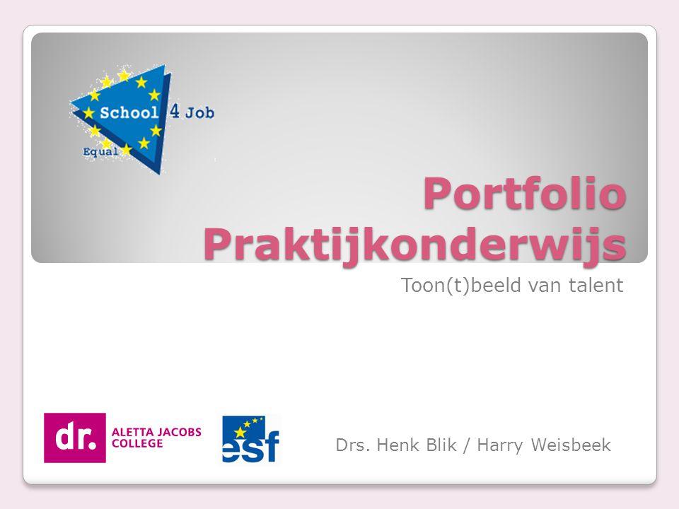 Portfolio Praktijkonderwijs