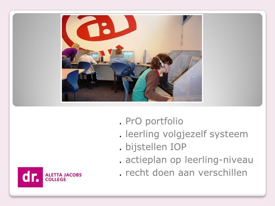 . leerling volgjezelf systeem . bijstellen IOP