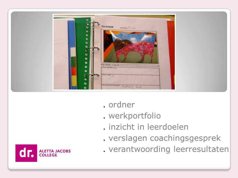 . verslagen coachingsgesprek . verantwoording leerresultaten