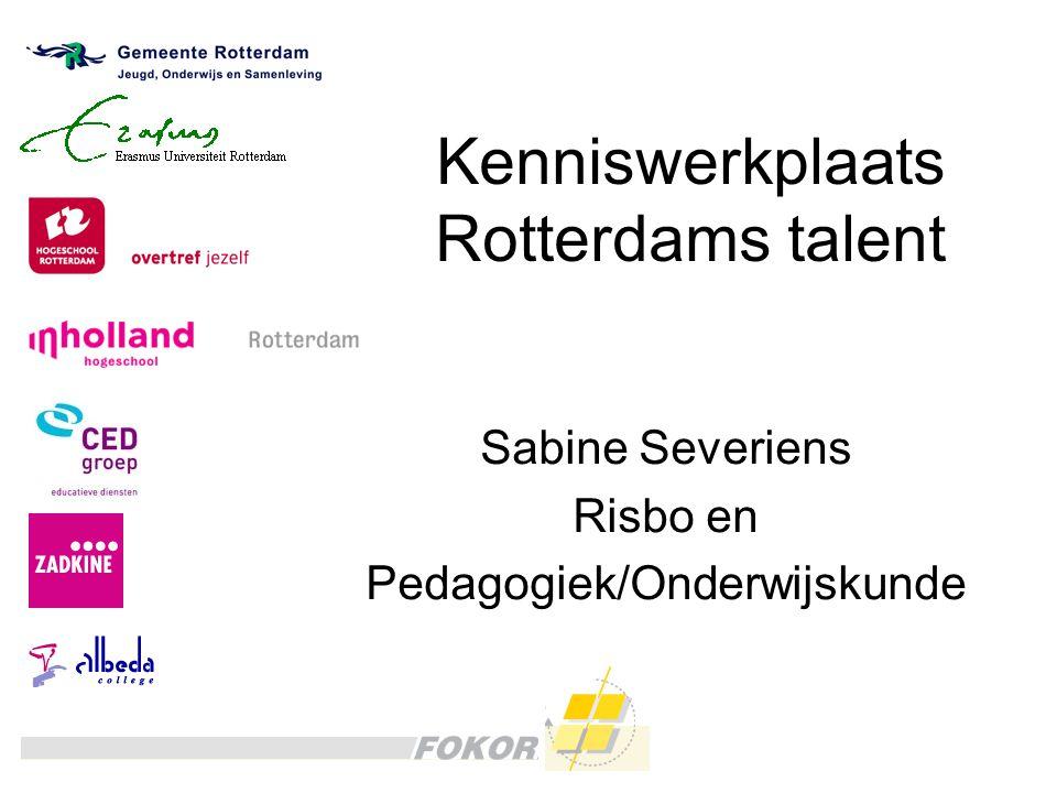 Kenniswerkplaats Rotterdams talent