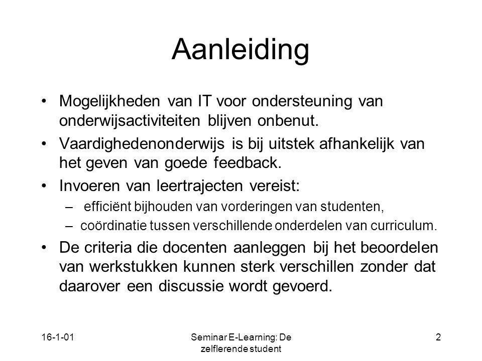 Seminar E-Learning: De zelflerende student