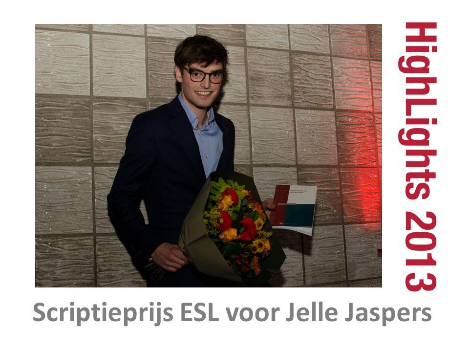 Scriptieprijs ESL voor Jelle Jaspers