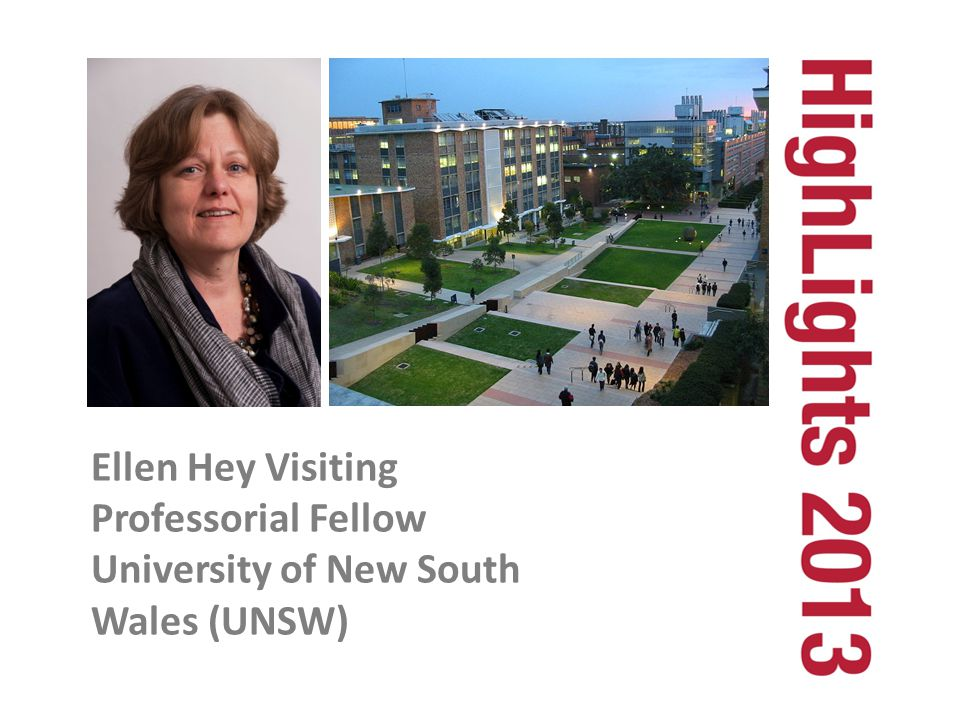 Ellen Hey Visiting Professorial Fellow University of New South Wales (UNSW)