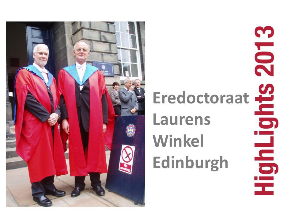 Eredoctoraat Laurens Winkel Edinburgh