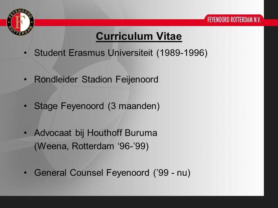 Curriculum Vitae Student Erasmus Universiteit (1989-1996)