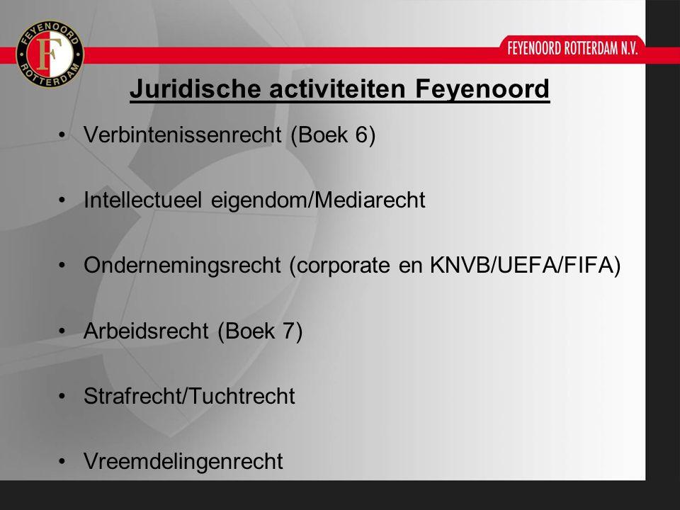 Juridische activiteiten Feyenoord