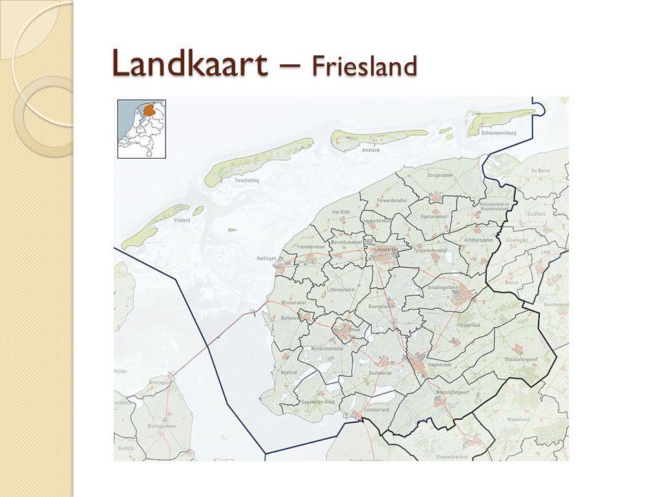 Landkaart – Friesland
