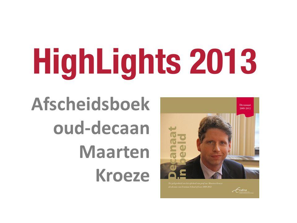 Afscheidsboek oud-decaan Maarten Kroeze