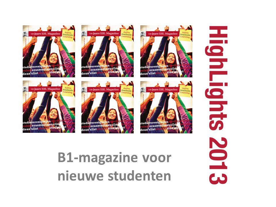 B1-magazine voor nieuwe studenten