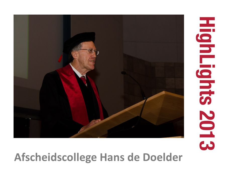 Afscheidscollege Hans de Doelder