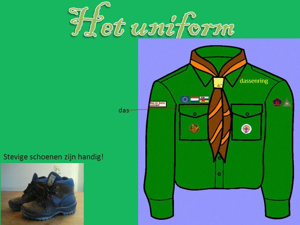 Het uniform dassenring das Stevige schoenen zijn handig!