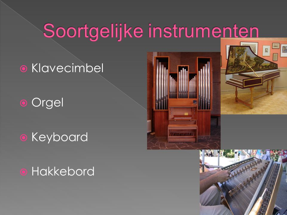 Soortgelijke instrumenten