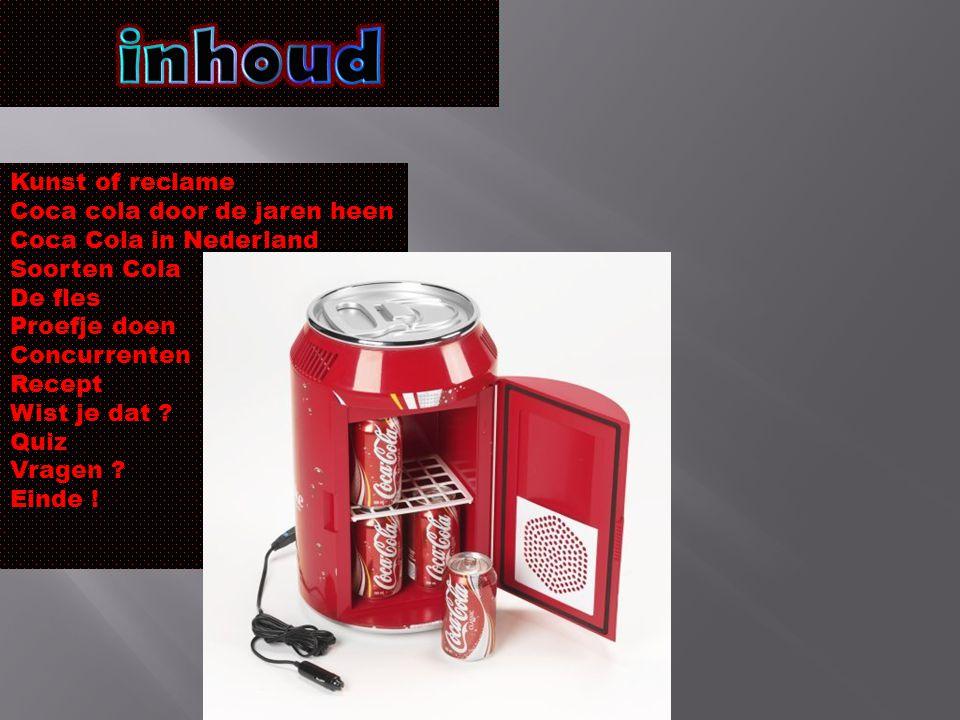 inhoud Kunst of reclame Coca cola door de jaren heen