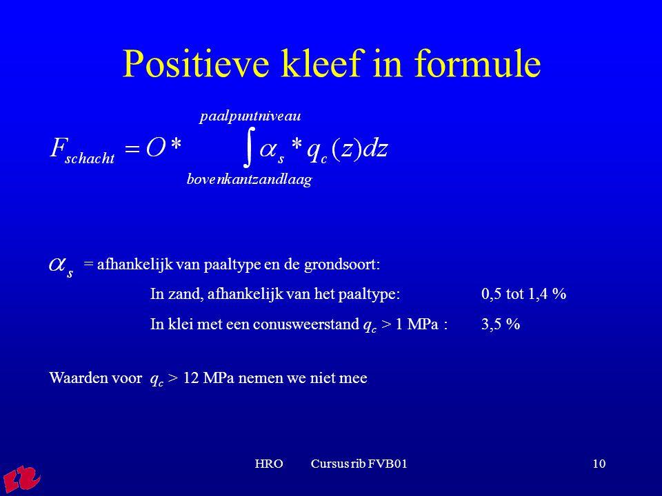 Positieve kleef in formule