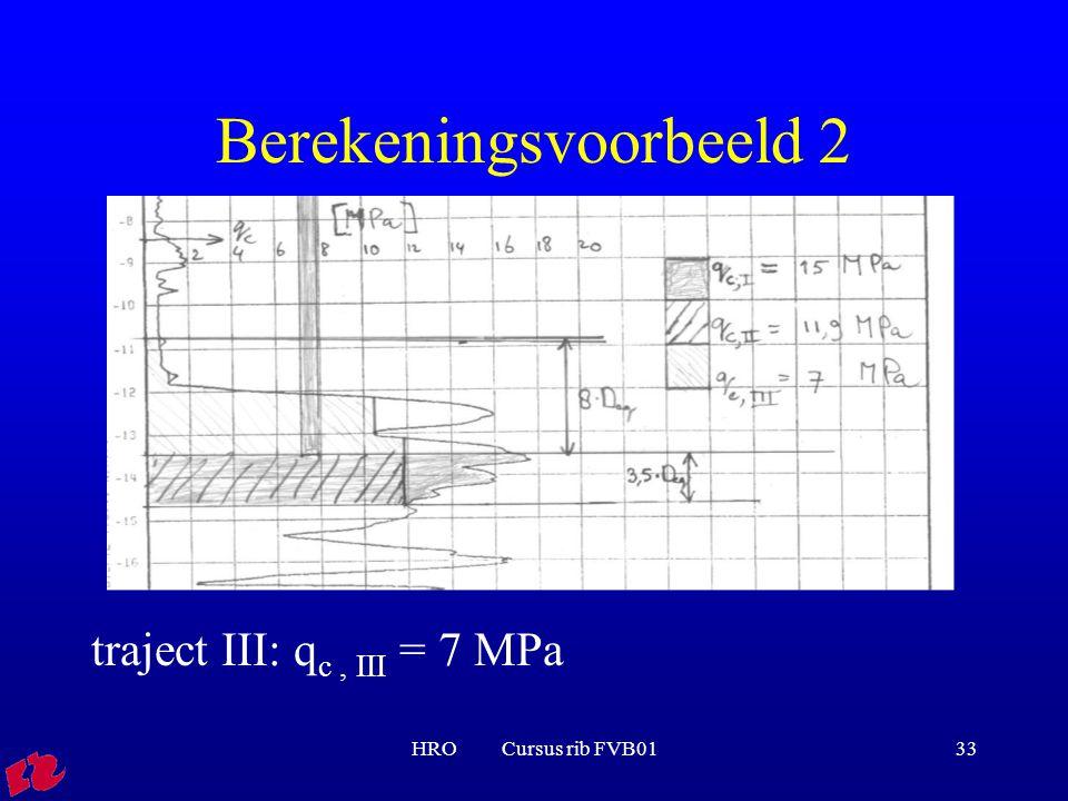 Berekeningsvoorbeeld 2