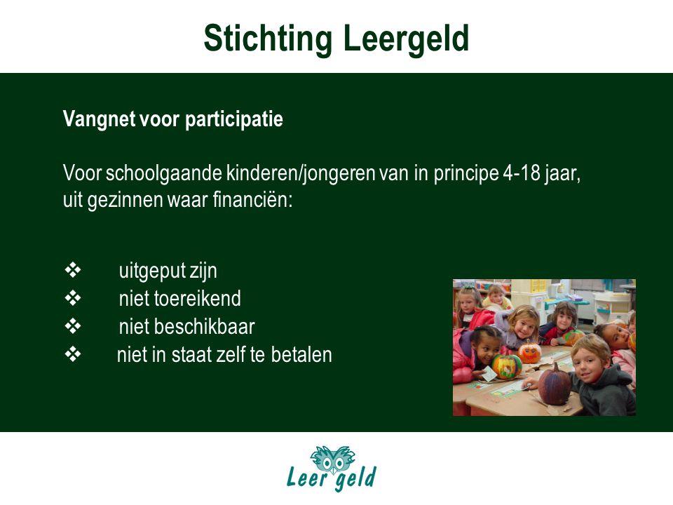 Stichting Leergeld Vangnet voor participatie