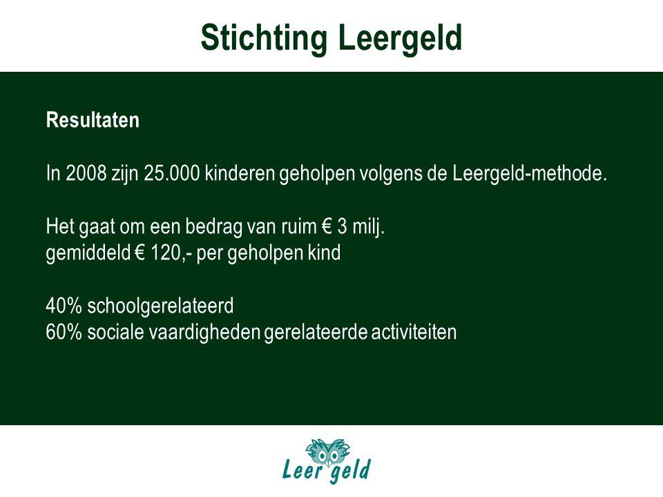 Stichting Leergeld Resultaten