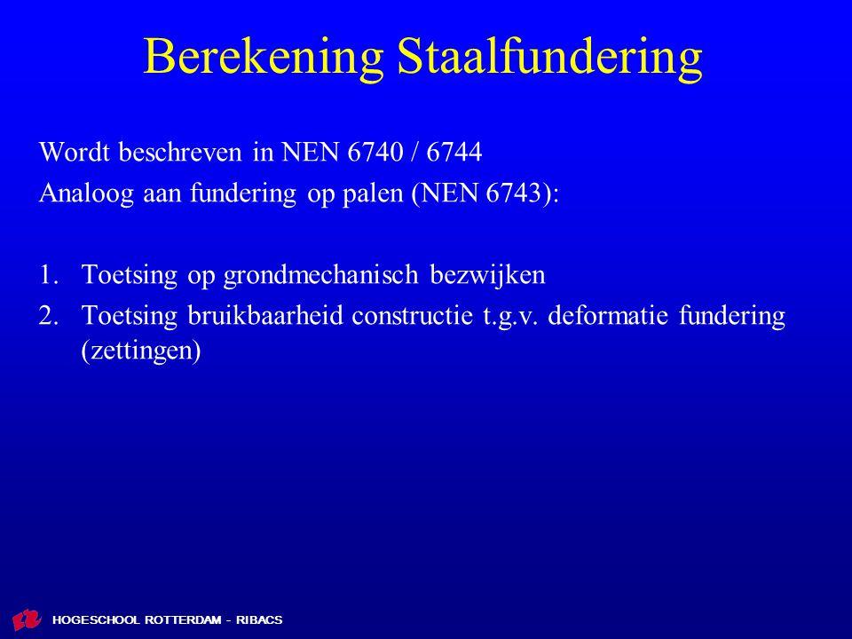 Berekening Staalfundering