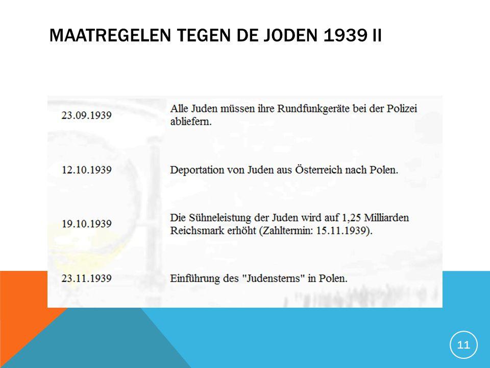 Maatregelen tegen de joden 1939 II