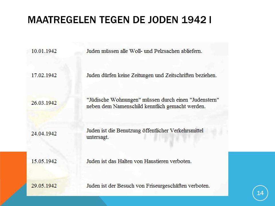 Maatregelen tegen de joden 1942 I