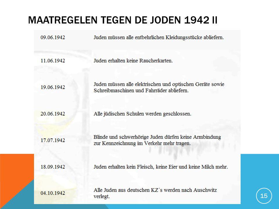 Maatregelen tegen de joden 1942 II