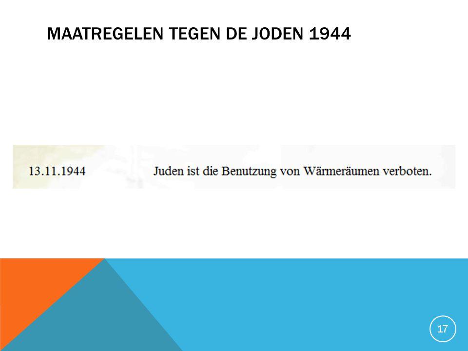 Maatregelen tegen de joden 1944