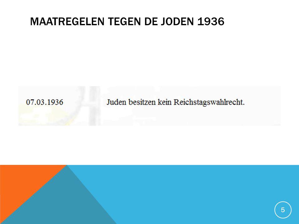 Maatregelen tegen de joden 1936
