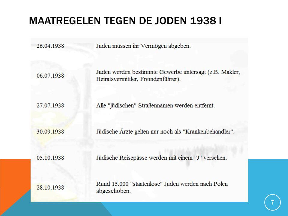 Maatregelen tegen de joden 1938 I
