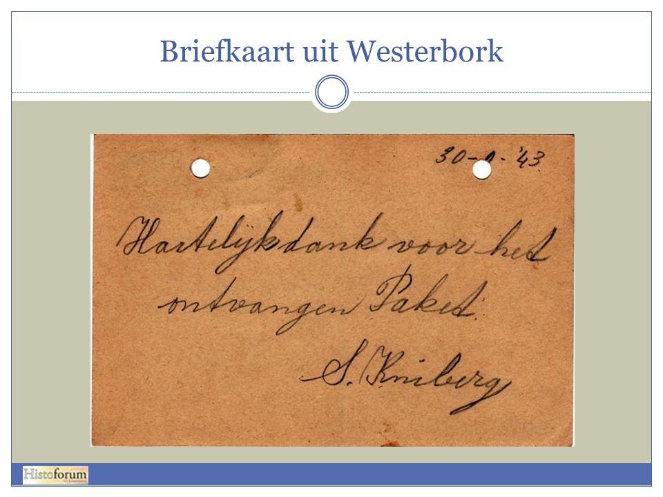 Briefkaart uit Westerbork