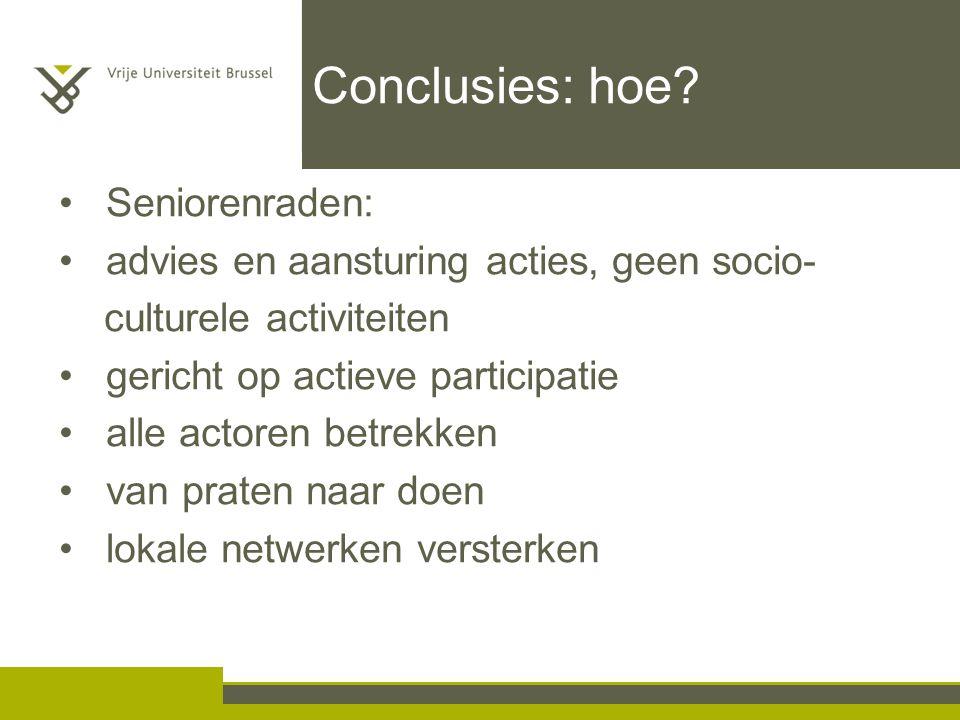 Conclusies: hoe Seniorenraden: