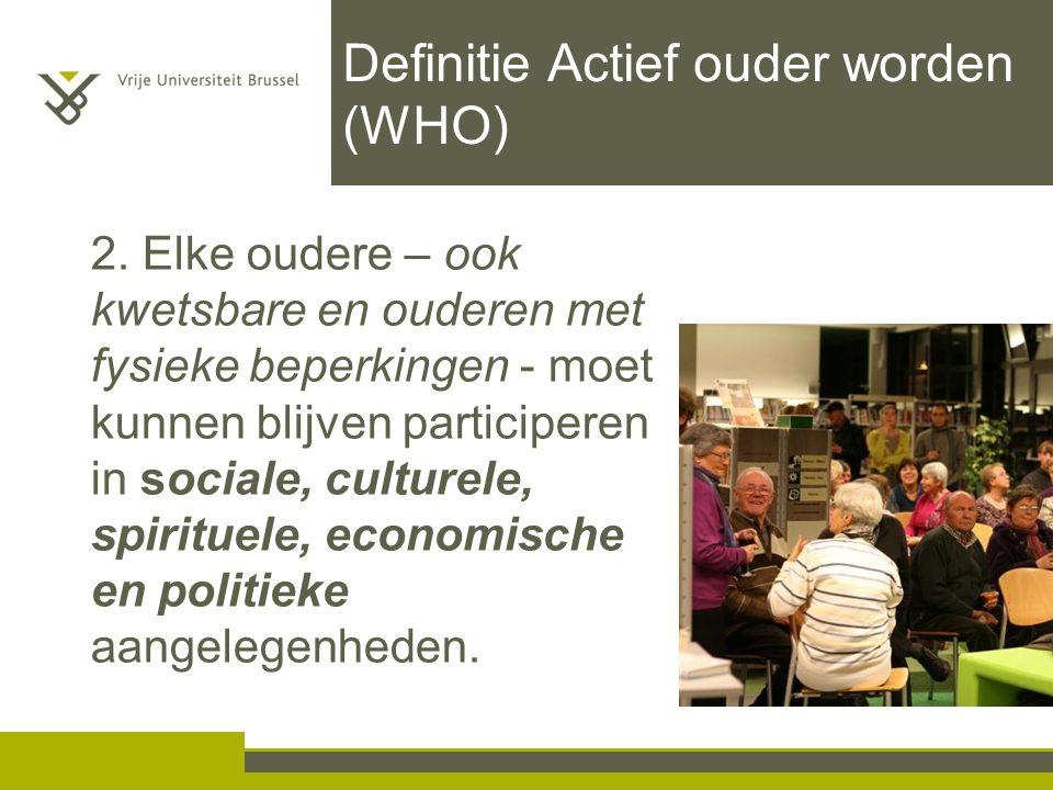 Definitie Actief ouder worden (WHO)