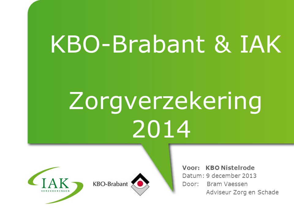 KBO-Brabant & IAK Zorgverzekering 2014