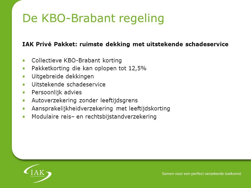 De KBO-Brabant regeling