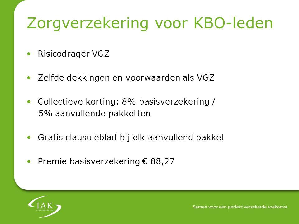 Zorgverzekering voor KBO-leden