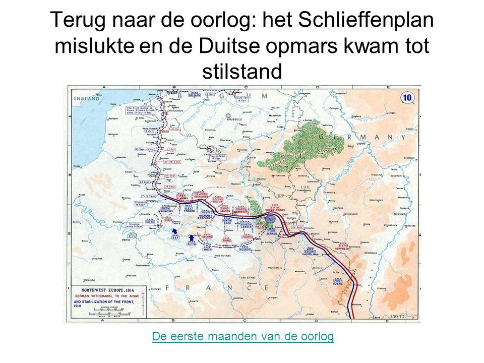 Terug naar de oorlog: het Schlieffenplan mislukte en de Duitse opmars kwam tot stilstand