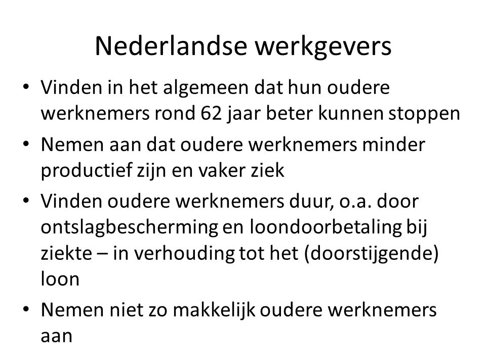 Nederlandse werkgevers