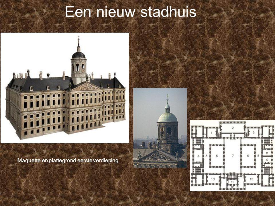 Een nieuw stadhuis Maquette en plattegrond eerste verdieping.