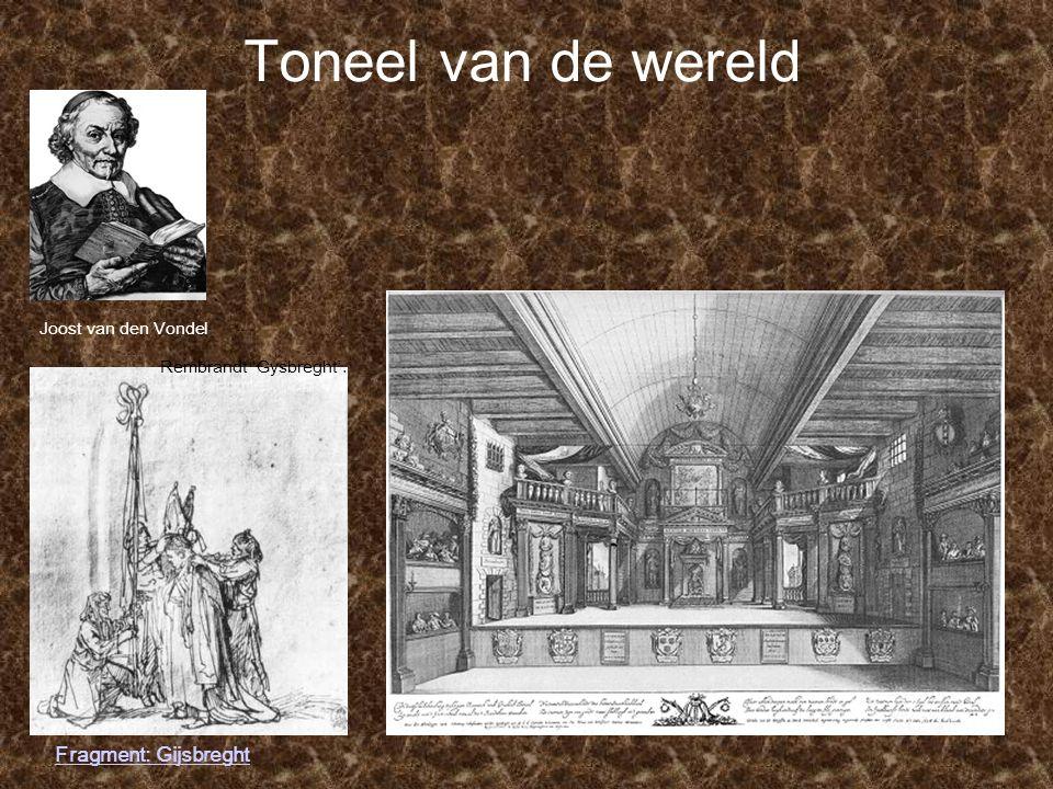 Toneel van de wereld Fragment: Gijsbreght Joost van den Vondel