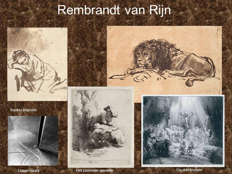 Rembrandt van Rijn Saskia slapend Droge naald Het pissende vrouwtje