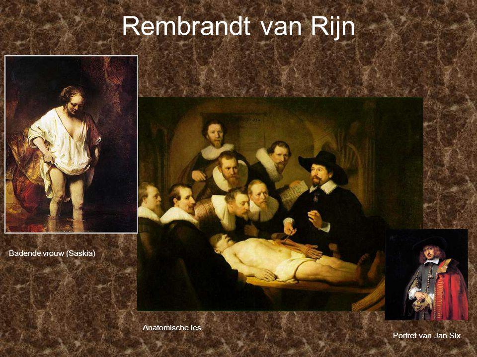 Rembrandt van Rijn Badende vrouw (Saskia) Anatomische les