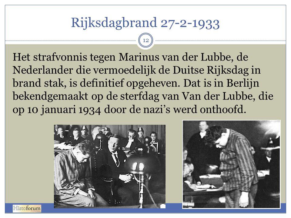 Rijksdagbrand 27-2-1933