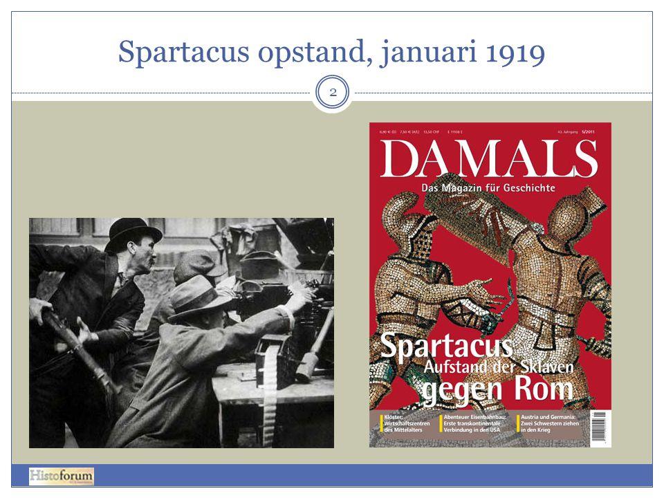 Spartacus opstand, januari 1919