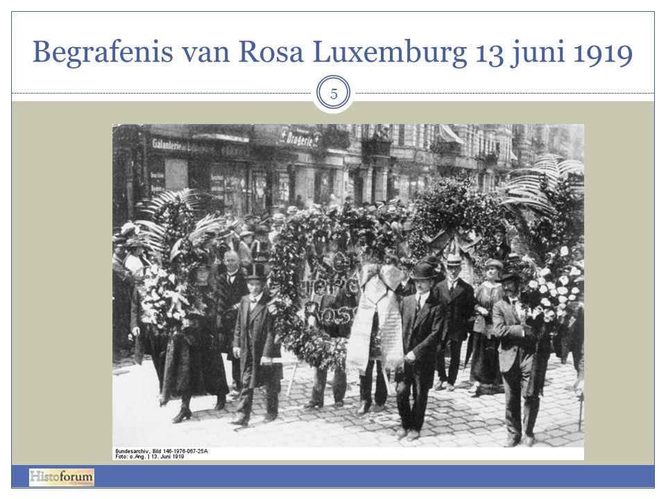 Begrafenis van Rosa Luxemburg 13 juni 1919