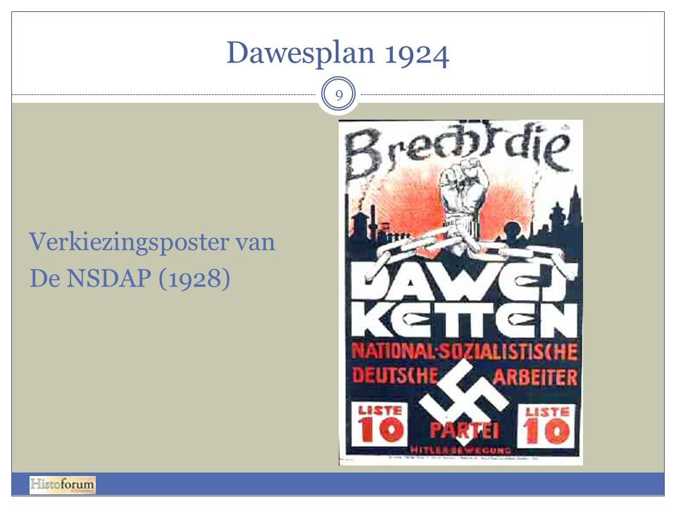 Dawesplan 1924 Verkiezingsposter van De NSDAP (1928)