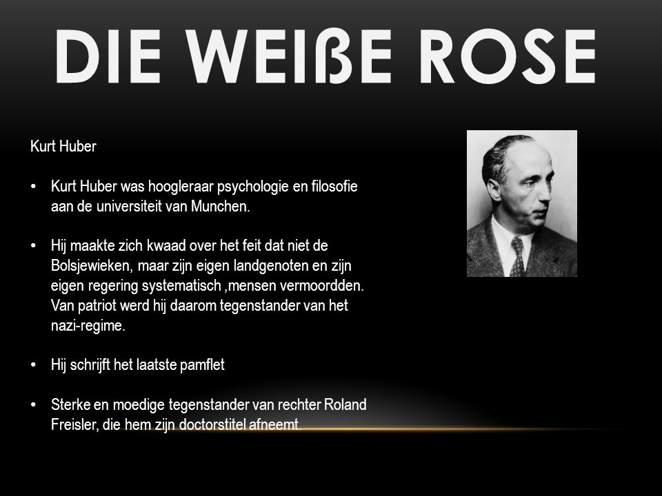DIE WEIßE ROSE Kurt Huber