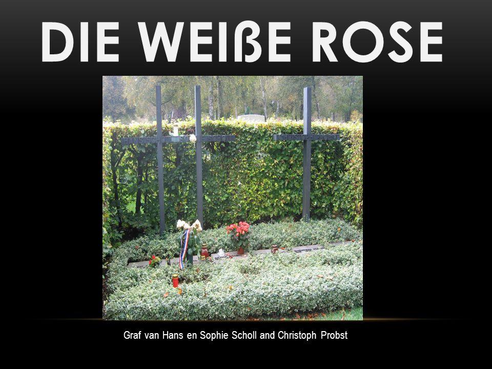 DIE WEIßE ROSE Graf van Hans en Sophie Scholl and Christoph Probst